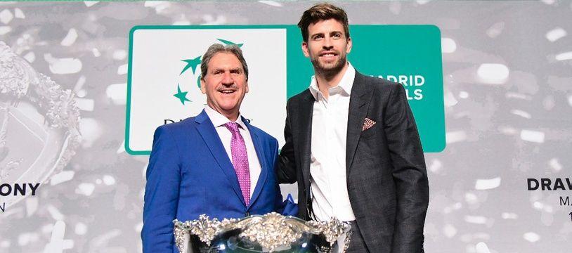 David Haggerty (à g.) et Gerard Piqué envisagent déjà un changement de format pour la prochaine Coupe Davis.
