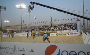 Une épreuve du circuit mondial de Beach volley à Doha, en novembre 2014.