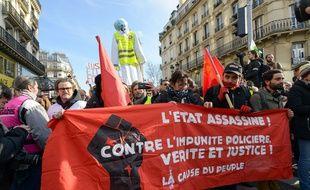 La CGT en bonne place dans les cortèges pour la grève du mardi 5 février 2019.