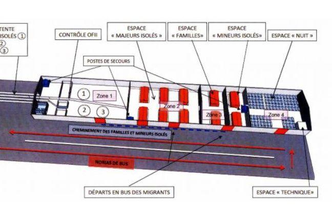Le plan du «sas» à Calais.