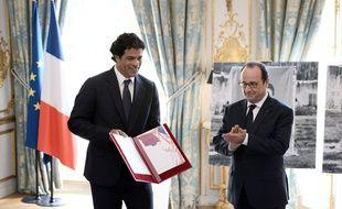 François Hollande et Raï, le 6 juin 2016