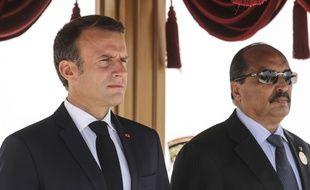 Les présidents français et mauritanien, Emmanuel Macron et Mohamed Ould Abdel Aziz, le 2 juillet 2018 en Mauritanie.