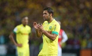 Nantes's player Itay Shechter in action during the Ligue One Soccer Match between Nantes vs Monaco at La Beaujoire stadium in Nantes, NANTES-24/08/14.  Credit:Pierre Minier/Ouest Medias/Sipa/OUESTMEDIAS_1323.43/Credit:Pierre Minier/Ouest Media/SIPA/1408251345