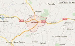 Les faits se sont déroulés dans la nuit de samedi à dimanche à Loudéac (Côtes d'Armor).