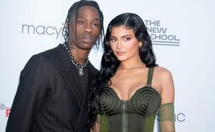 Le rappeur Travis Scott et sa compagne, la femme d'affaires Kylie Jenner