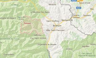 Situation du massif du Pelvoux (Hautes-Alpes)
