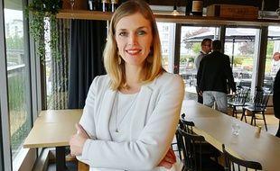 Carole Gandon au restaurant rennais Le Mabilay, le 10 mai, lors de la venue de Nathalie Loiseau pour les européennes.