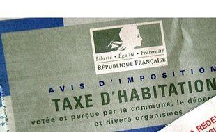 Un avis d'imposition de la taxe d'habitation.