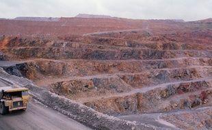 Le site minier de Salsigne dans l'Aude, où l'on a extrait de l'or et de l'argent, en 1990.