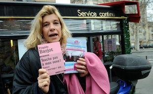 Frigide Barjot, lors de la présentation de son livre «Touche pas à mon sexe», le 9 janvier 2013