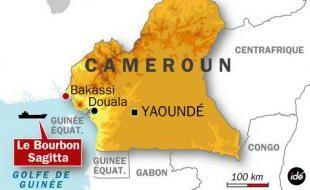 La zone maritime de Bakassi au Cameroun, où les 10 otages ont été libérés aujourd'hui.