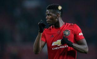 Photo rare de Paul Pogba sous le maillot de Manchester United lors de la première partie de saison 2019-2020.