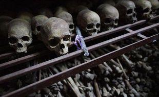 Mémorial du génocide à Nyamata au Rwanda, le 27 septembre 2009.