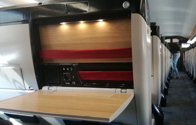 La 1e classe dans une rame TGV Océane