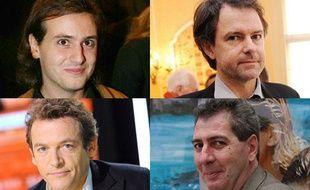En haut: Tristan Garcia, Yannick Haenel. En bas: Marc Weitzmann, Pierre Mérot.