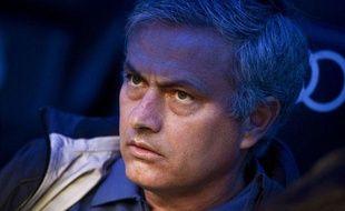 José Mourinho, l'entraîneur du Real Madrid, le 4 mai2013, àSantiago-Bernabeu.