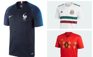 Les maillots de la France, du Mexique et de la Belgique sont-ils stylés?