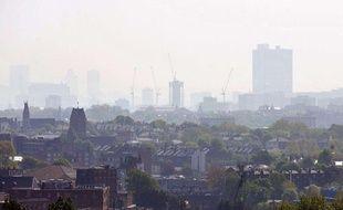 Pollution au dessus de Londres en avril 2011.