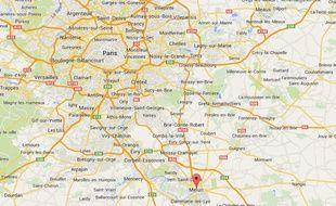 Google Maps de Melun (Seine-et-Marne).
