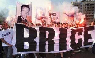 Une manifestation en hommage à Brice Taton, supporter du TFC tué àbelgrade, en septembre 2009, à Toulouse.