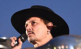 L'acteur Johnny Depp présent au festival Glastonbury 2017.