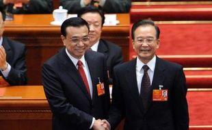 Li Keqiang a été désigné vendredi Premier ministre, au lendemain de la nomination à la présidence chinoise de Xi Jinping par le parlement qui parachève la transition au pouvoir d'une nouvelle équipe chargée de conduire la deuxième puissance mondiale pour les 10 ans à venir.