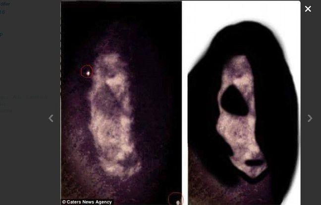Le visage d'une «chèvre diabolique» serait apparue sur un selfie.