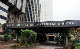 Illustration de l'hôpital de Bichat à Paris (18e), le 6 août 2014.