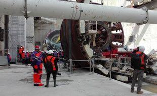 Le tunnelier baptisé Claire (au premier plan) sera assemblé au fond de la future gare de Pont de Rungis avant de commencer à creuser.