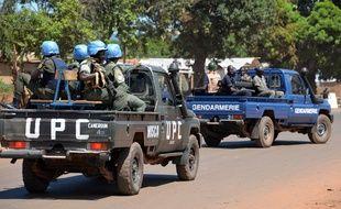 Des casques bleus dans la capitale centrafricaine, Bangui, le 2 octobre 2014.