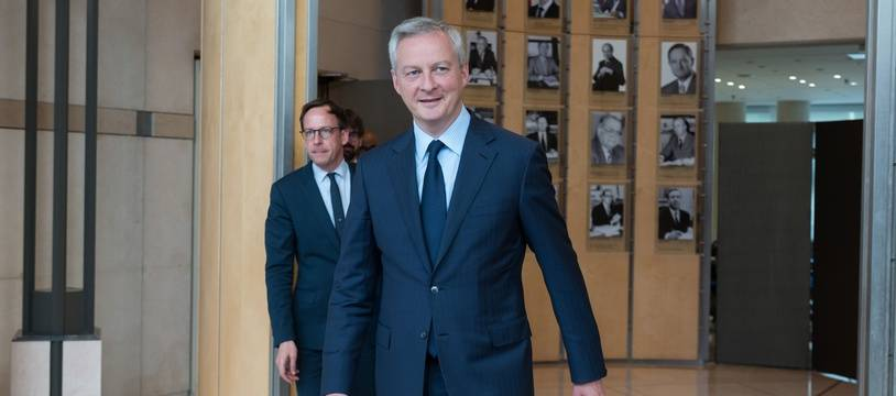 Le ministre français de l'Economie, Bruno Le Maire (en photo), Xavier Bertrand et Bruno Kopczynski, se sont entretenus avec la presse après une réunion avec les syndicats d'Ascoval.