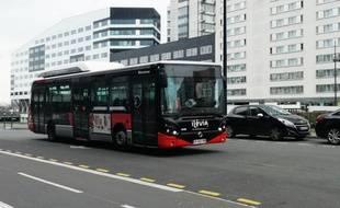 Illustration d'un bus Ilévia de la Métropole de Lille.