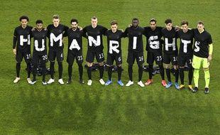 L'équipe d'Allemagne avait envoyé un message juste avant le coup d'envoi contre l'Islande