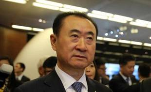 Wang Jianlin (c), Pdg de Wanda, le 23 décembre 2014