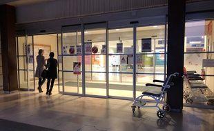 L'une des entrées du CHU Pontchaillou à Rennes. Ici le 13 mars 2020 lors de l'épidémie de coronavirus.