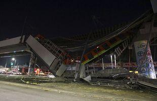 Un tronçon de la ligne 12 du métro s'est effondré à Mexico, le mardi 4 mai 2021.