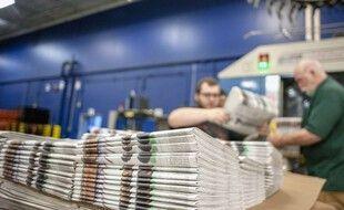 Une imprimerie de journaux (illustration).