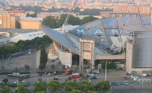 Photo de la scène qui s'est effondrée au stade Vélodrome, envoyée par un internaute.