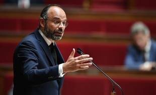 Edouard Philippe à l'Assemblée le 28 avril 2020.