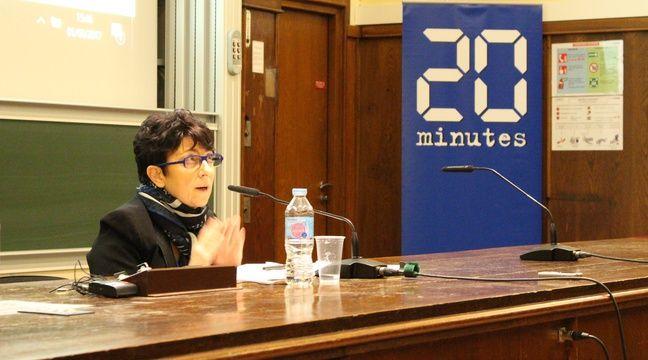 Catherine Lemorton présente les idées de Benoît Hamon sur le cannabis et la PMA. – C. LEMKE/20 MINUTES
