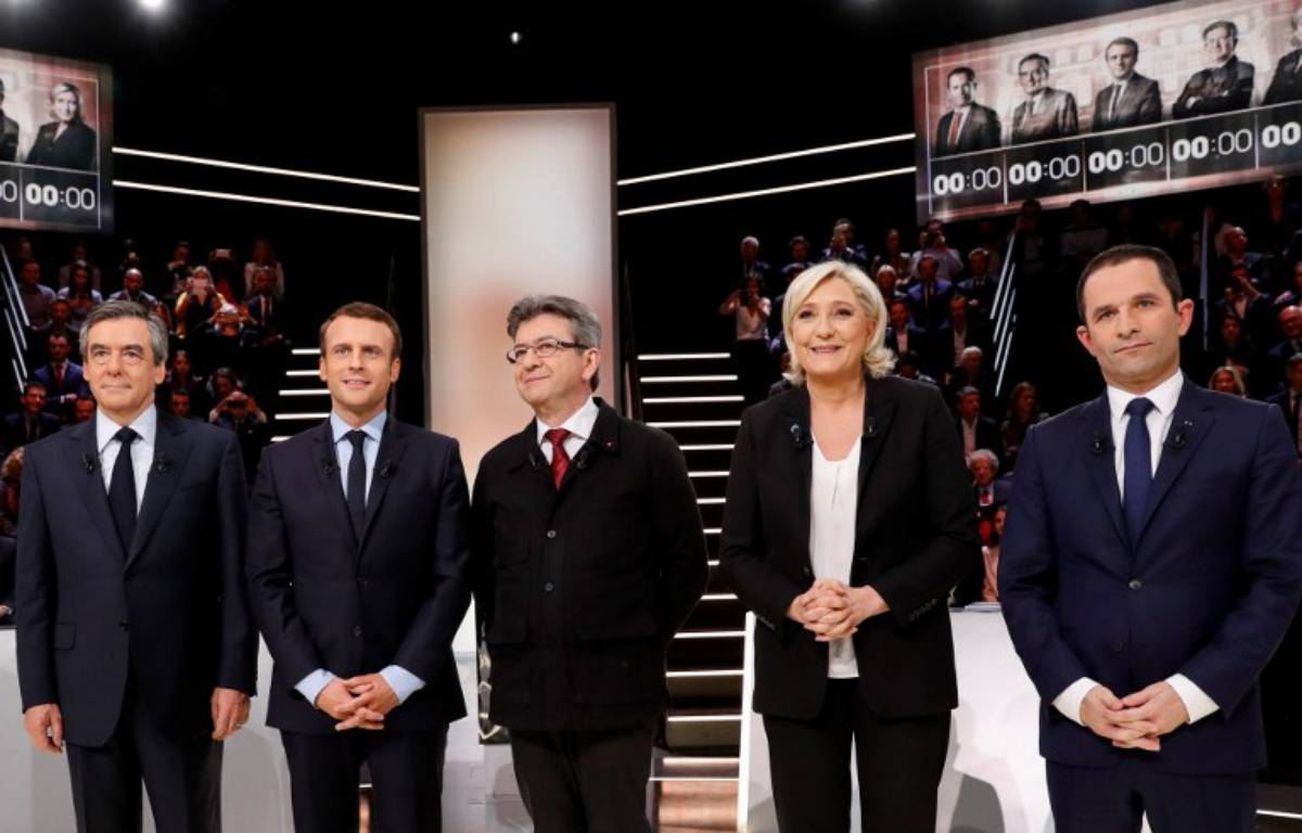 Le premier débat télévisé de l'élection présidentielle 2017. – Patrick KOVARIK