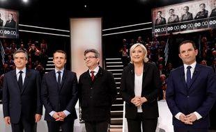 Le premier débat télévisé de l'élection présidentielle 2017.