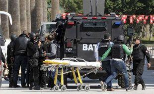 Mercredi, lors de l'attaque du musée de Bardo à Tunis.