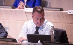 Didier Réault au conseil municipal.