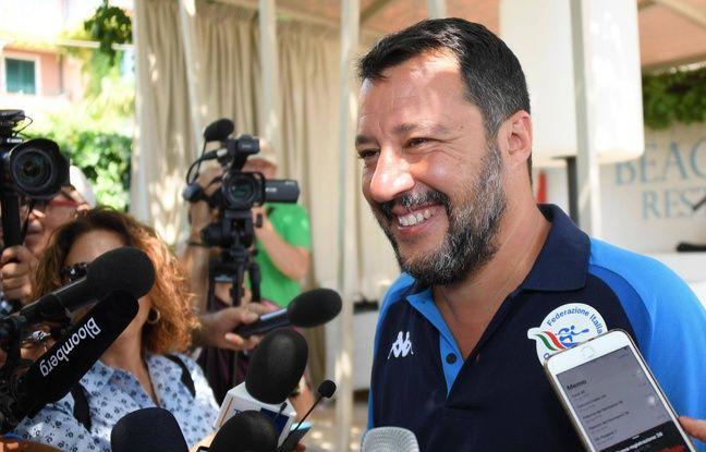Le ministre de l'Intérieur italien, Matteo Salvini, le 11 août 2019.