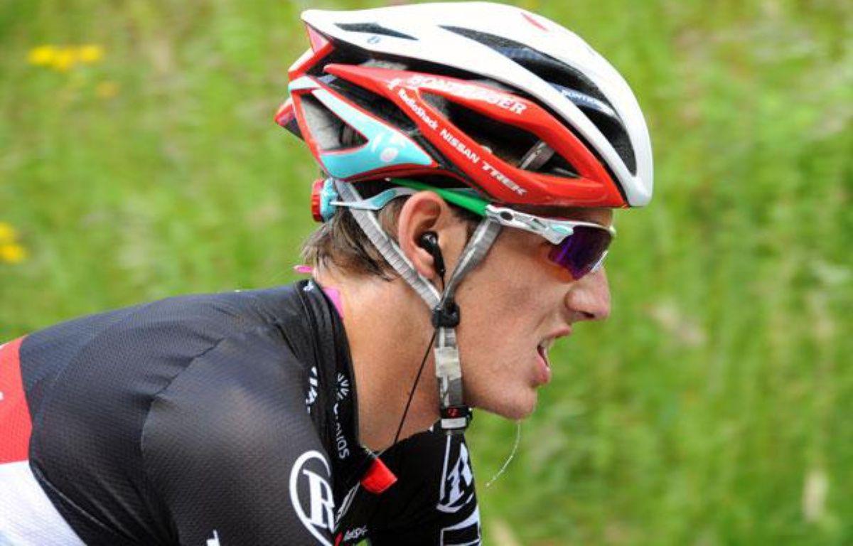 Andy Schleck, le 8 juin 2012, au Critérium du Dauphiné Libéré. – PASCAL PAVANI / AFP