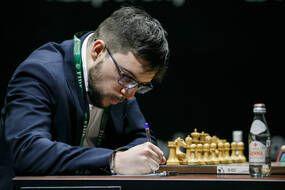 Maxime Vachier-Lagrave, lors d'un de ses matchs à Ekaterinbourg.