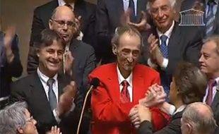 Capture d'écran du retour du député socialiste Patrick Roy à l'Assemblée nationale le 14 mars 2011.
