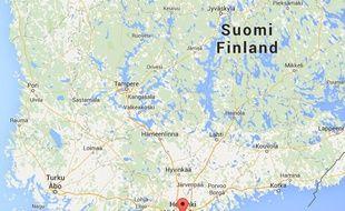 Google maps de la capitale finlandaise, Helsinki.