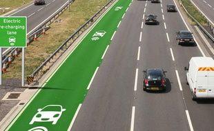 Un aperçu du projet des routes à induction, prochainement expérimenté outre-Manche